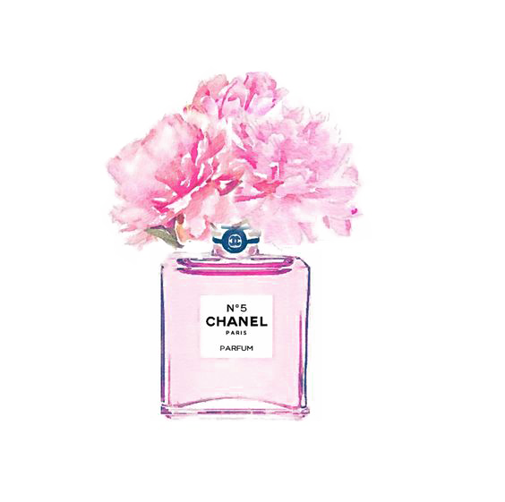No. Perfume Watercolor Coco Painting Chanel PNG Image