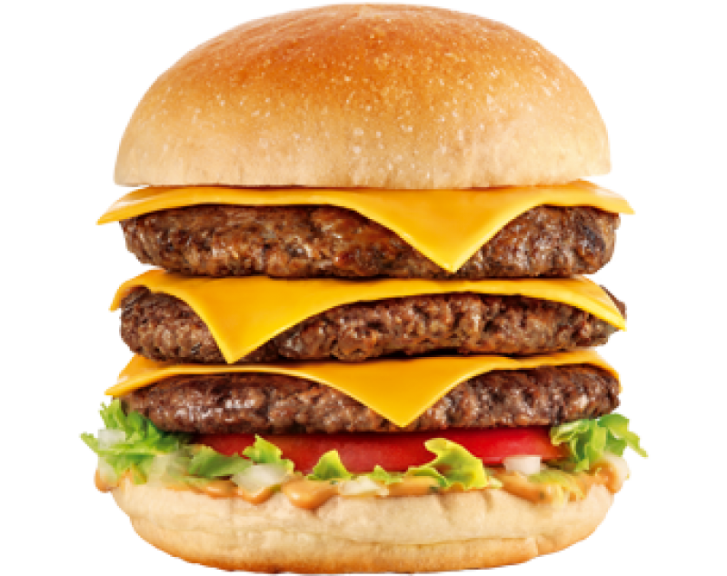 King Sandwich Hamburger Food Cheeseburger Veggie Fast PNG Image
