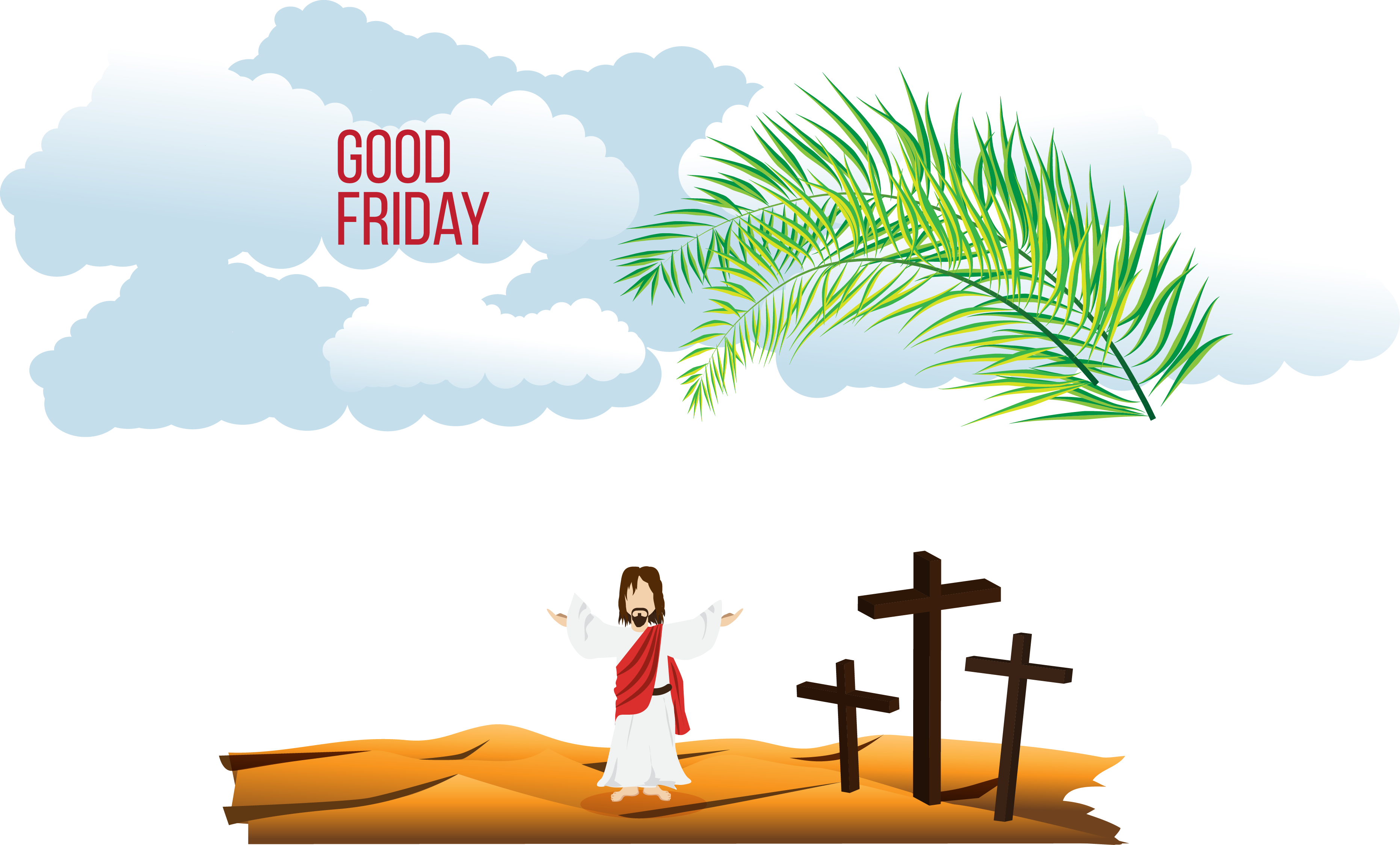 Vector Christian Of Cross Illustration Jesus Calvary PNG Image