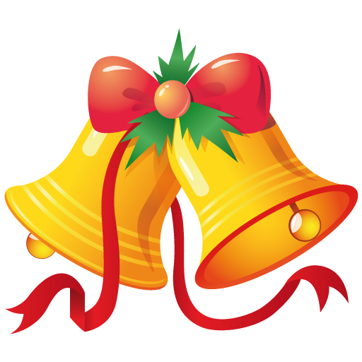 Cartoon Christmas Bells PNG Image