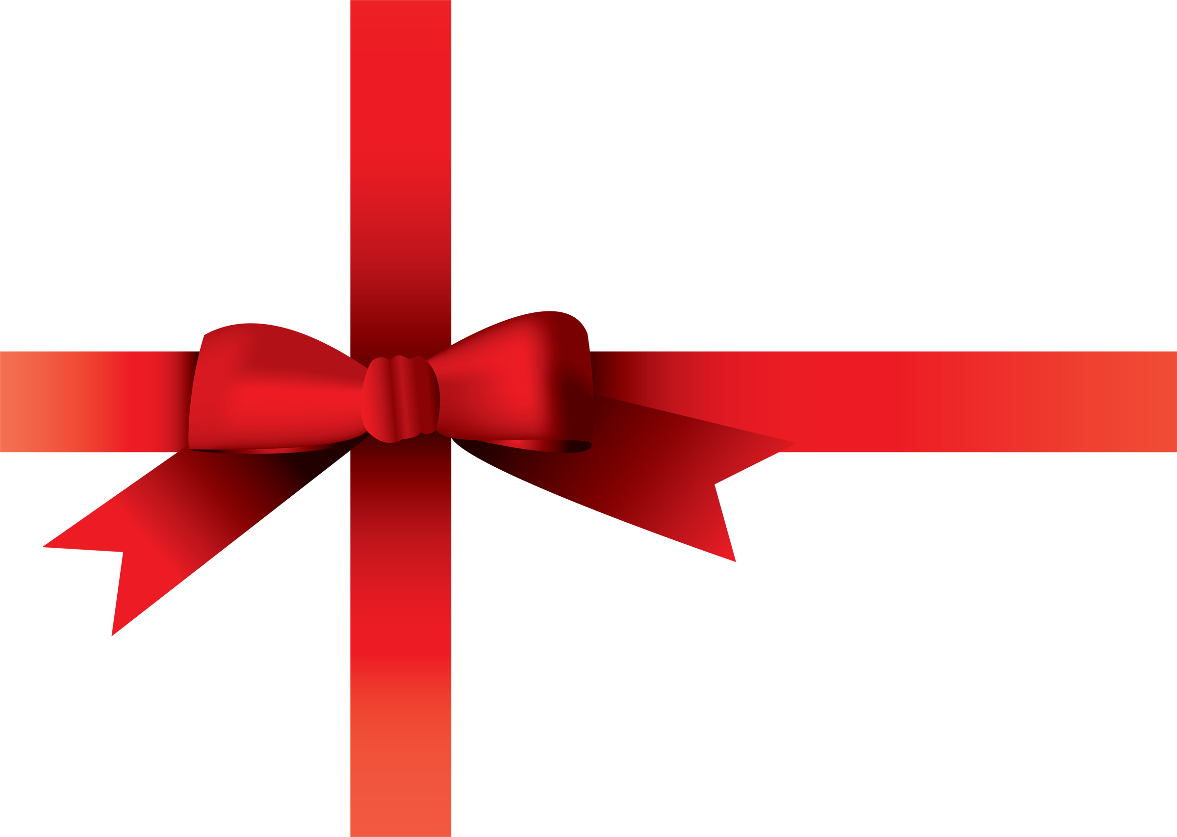 Christmas Bow Transparent Background PNG Image