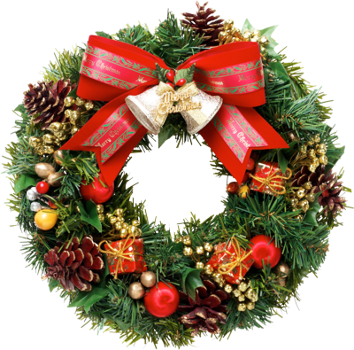 Christmas Wreath Clipart PNG Image