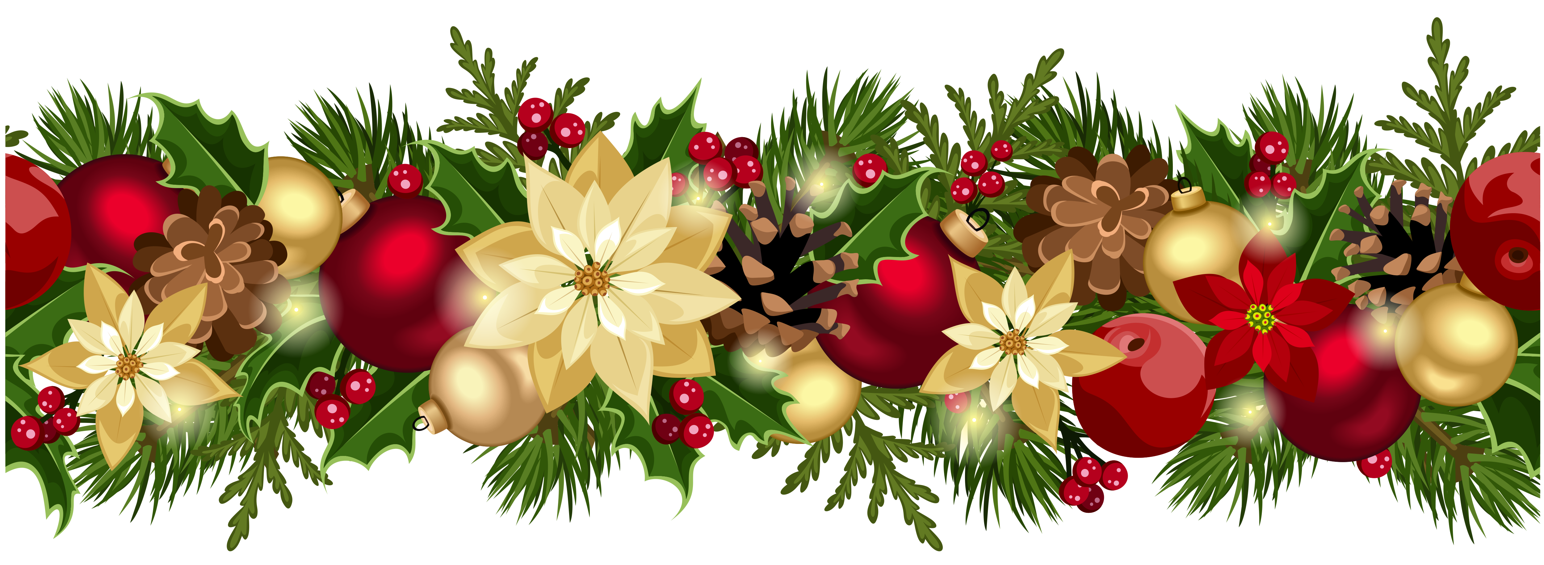 Download Christmas Wreath Transparent HQ PNG Image ...