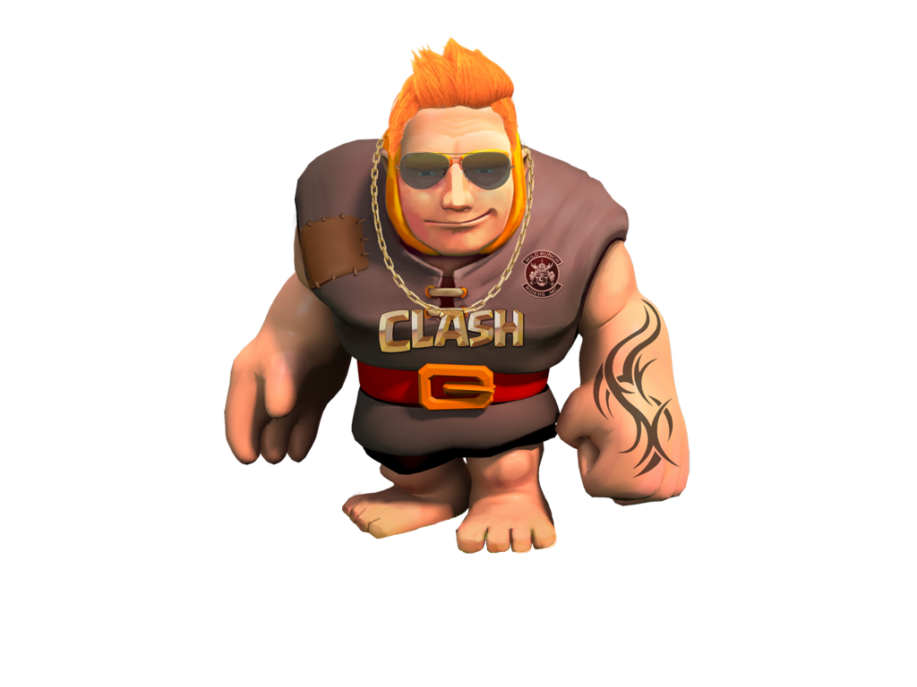 Clash Of Clans Giant Stylish Png PNG Image