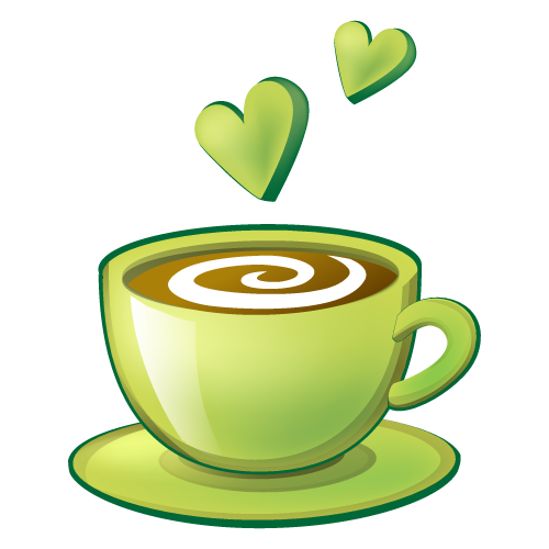 Coffee Cappuccino Love Cup Espresso Green Cafe PNG Image