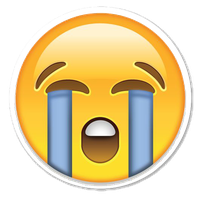 Crying Emoji Clipart PNG Image