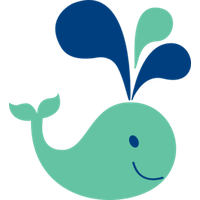 Cute Whale File PNG Image