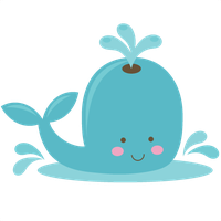 Cute Whale Transparent PNG Image