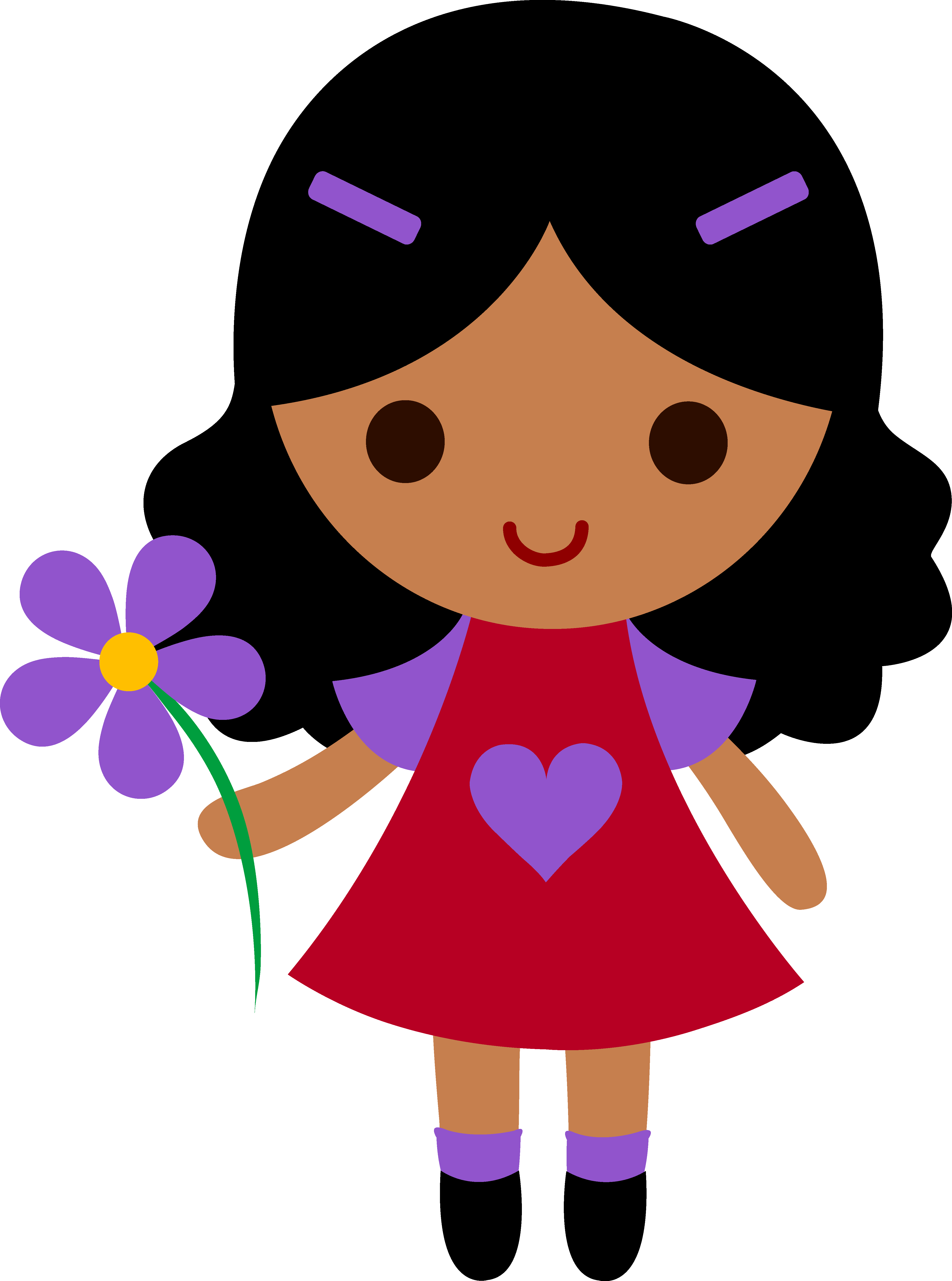 Download Cute Cartoon Girl Transparent Picture Hq Png Image Freepngimg