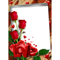 Love Red Frame Png PNG Image
