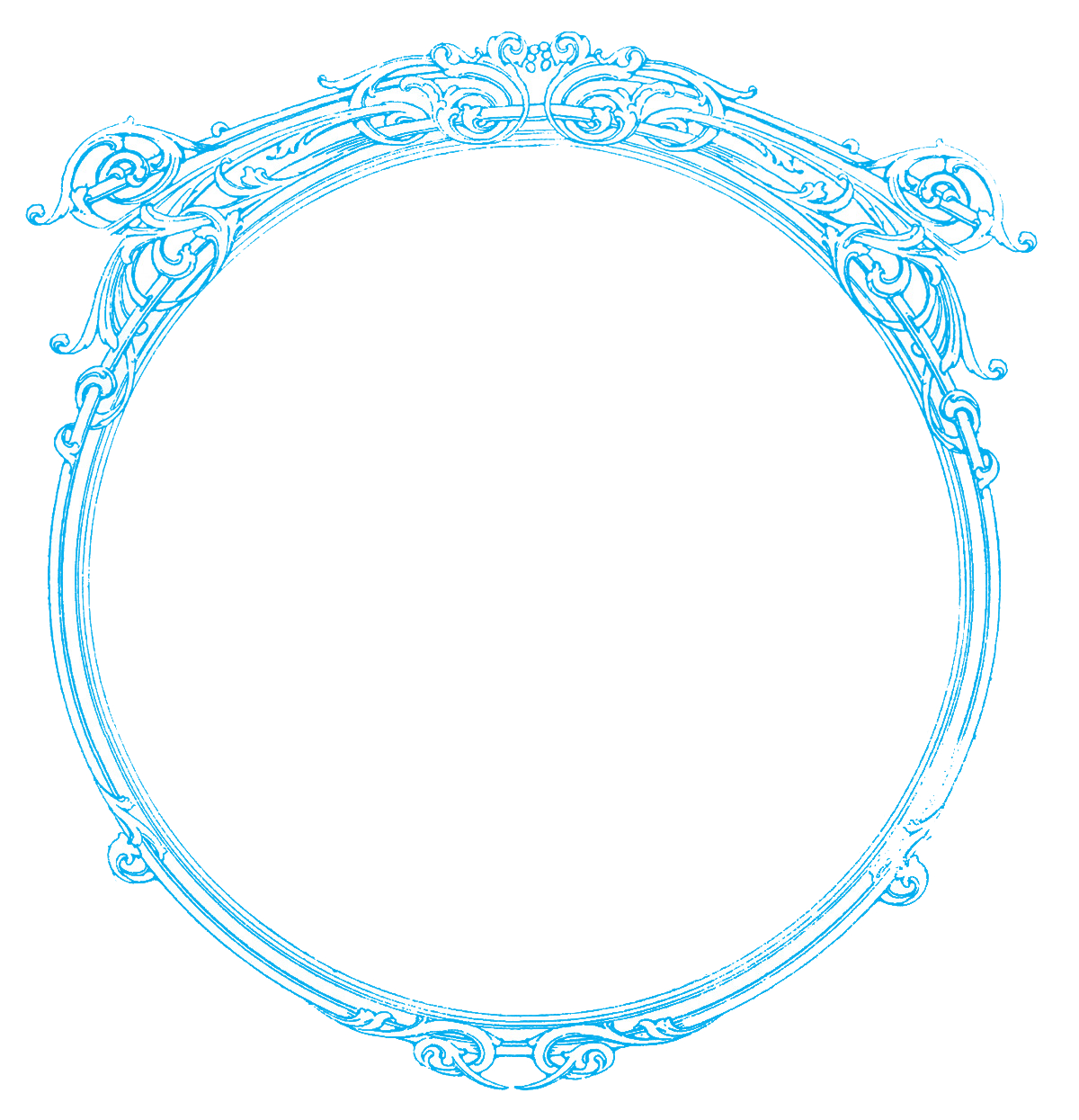Round Frame Picture PNG Image