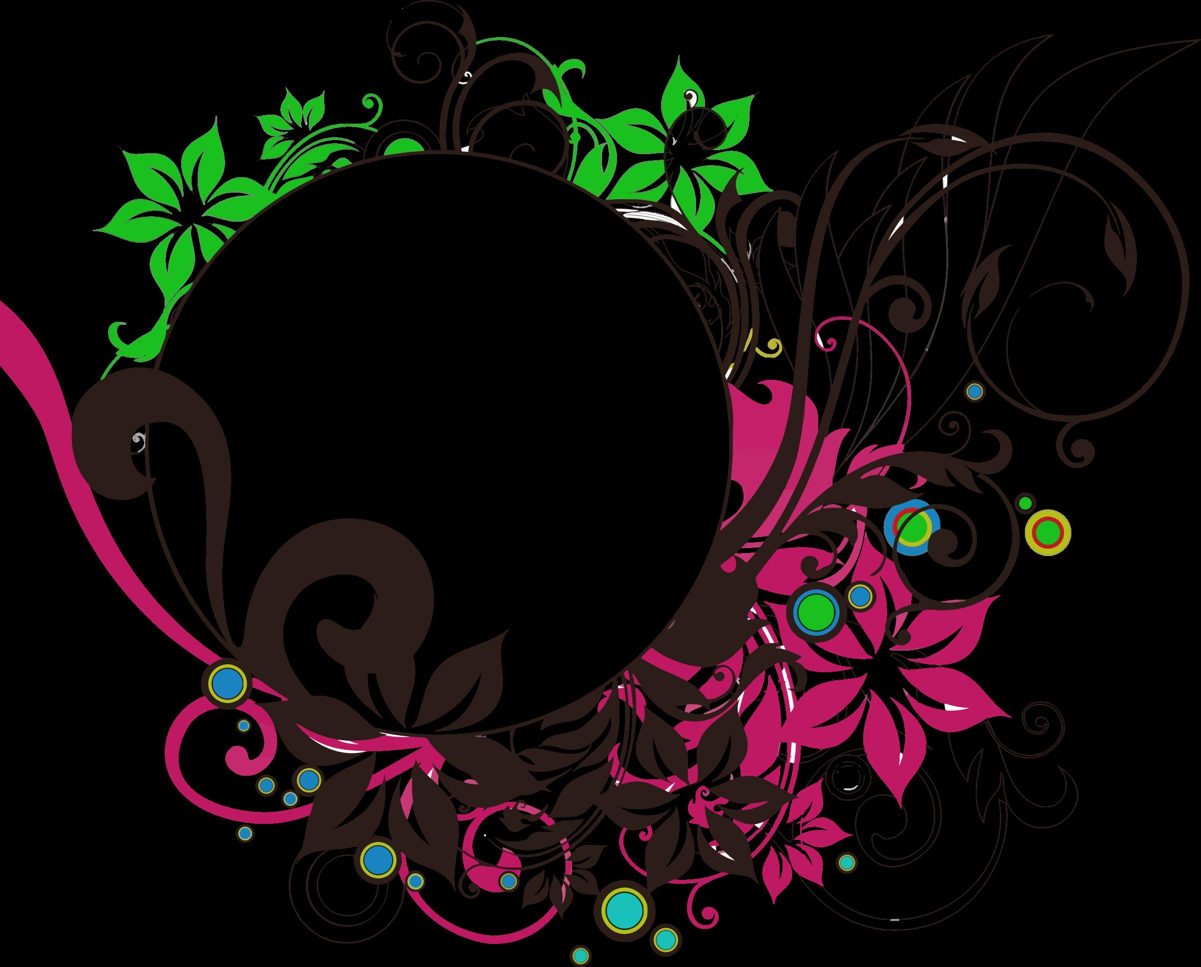 Download Floral Round Frame Photo HQ PNG Image   FreePNGImg