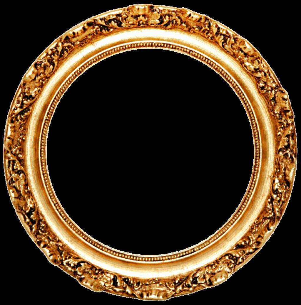 Download Golden Round Frame Transparent HQ PNG Image ...