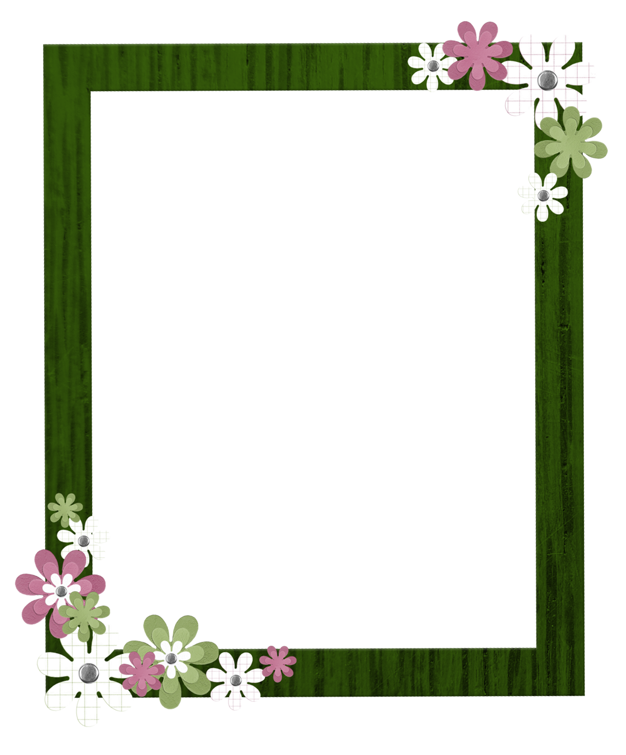 Green Border Frame Clipart PNG Image
