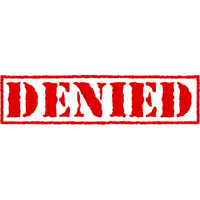 Denied Stamp Picture PNG Image