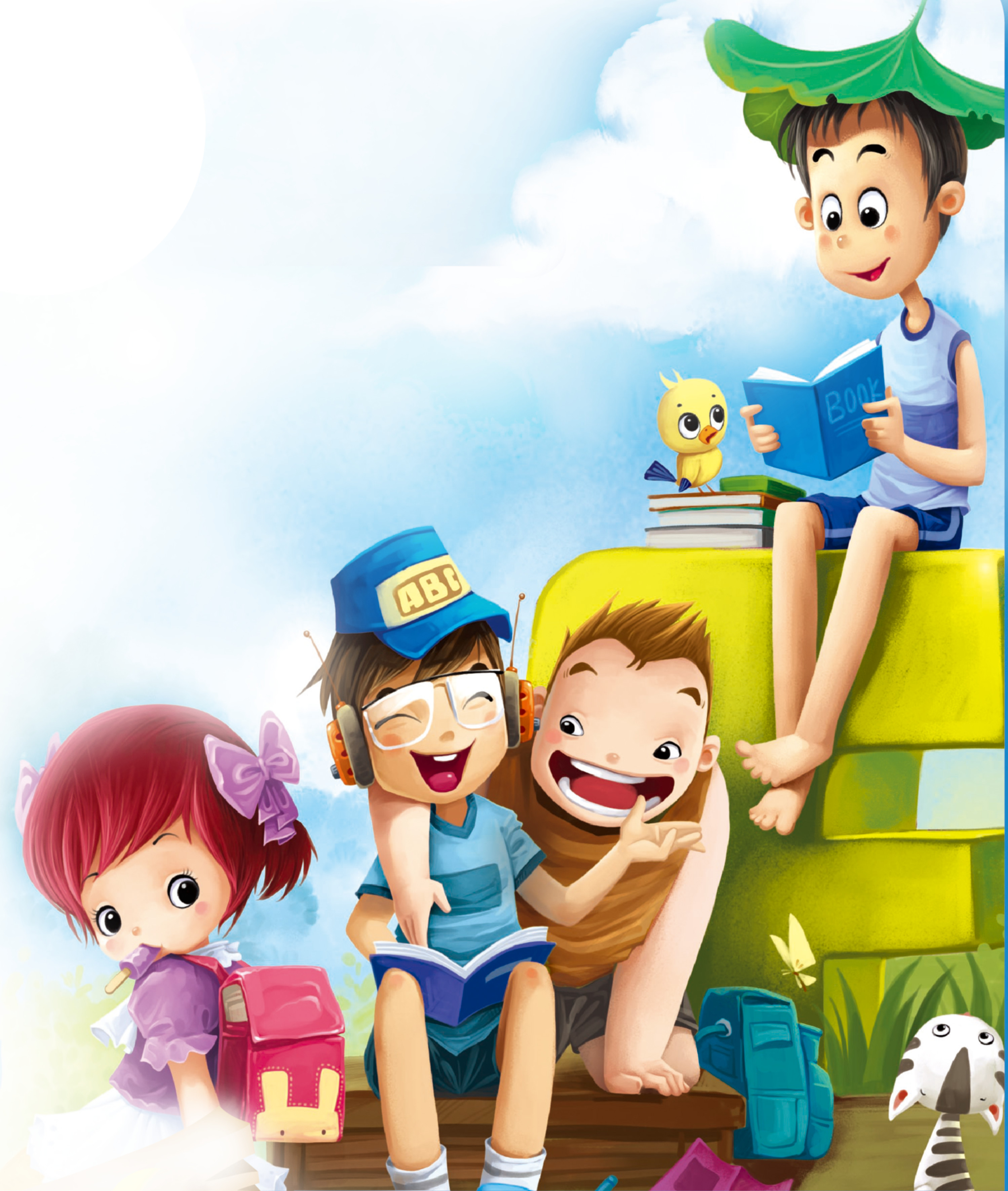 Poster Reading Cartoon Children PNG Image High Quality PNG Image