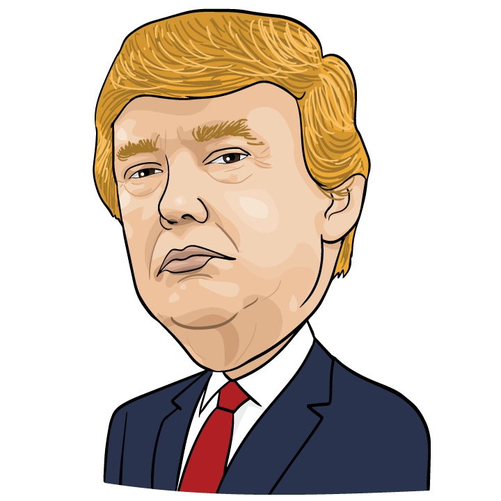 Hairstyle Caricature Trump Communication Donald Royaltyfree PNG Image