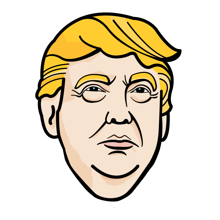 Trump Face Donald Ghostbusters Facial Expression Drawing PNG Image