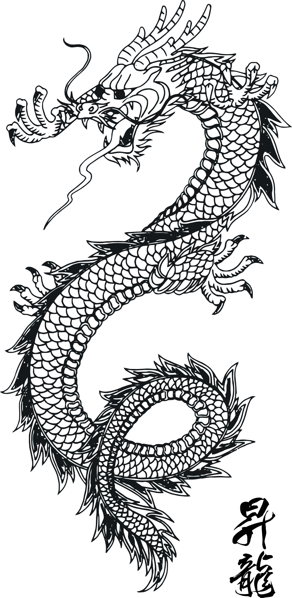 Tattoo Png Aesthetic Hd: Download Black Tattoo Dragon Png Images HQ PNG Image