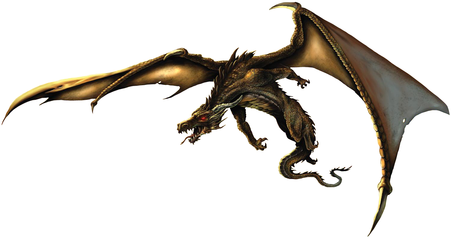 Realistic Dragon Clipart PNG Image