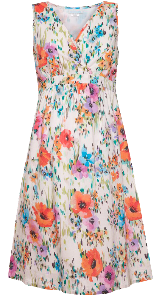 Floral Dress Photo PNG Image