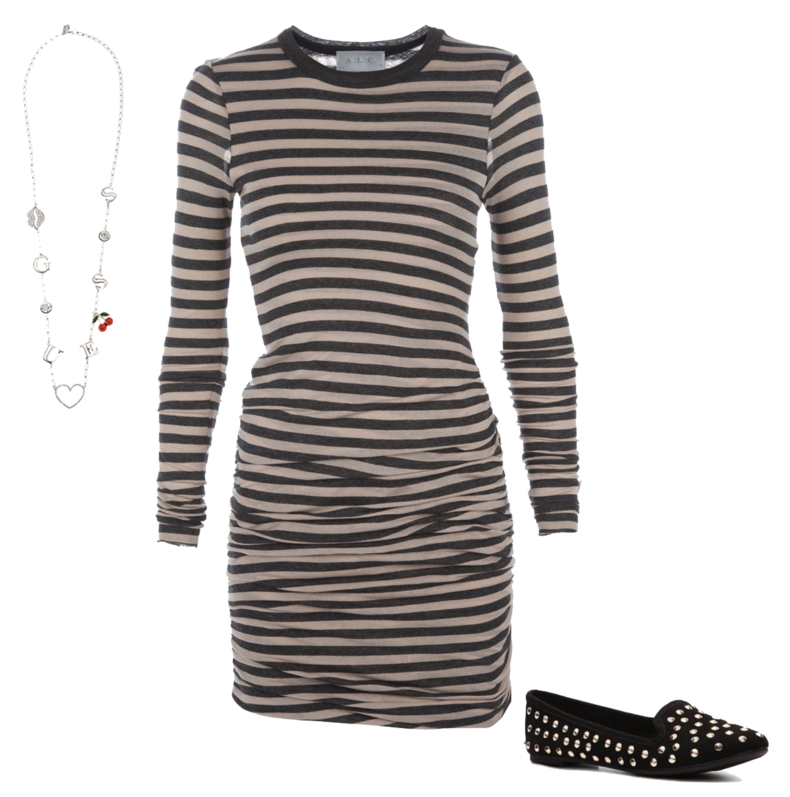 Striped Dress Image PNG Image