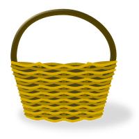 Empty Easter Basket Picture PNG Image