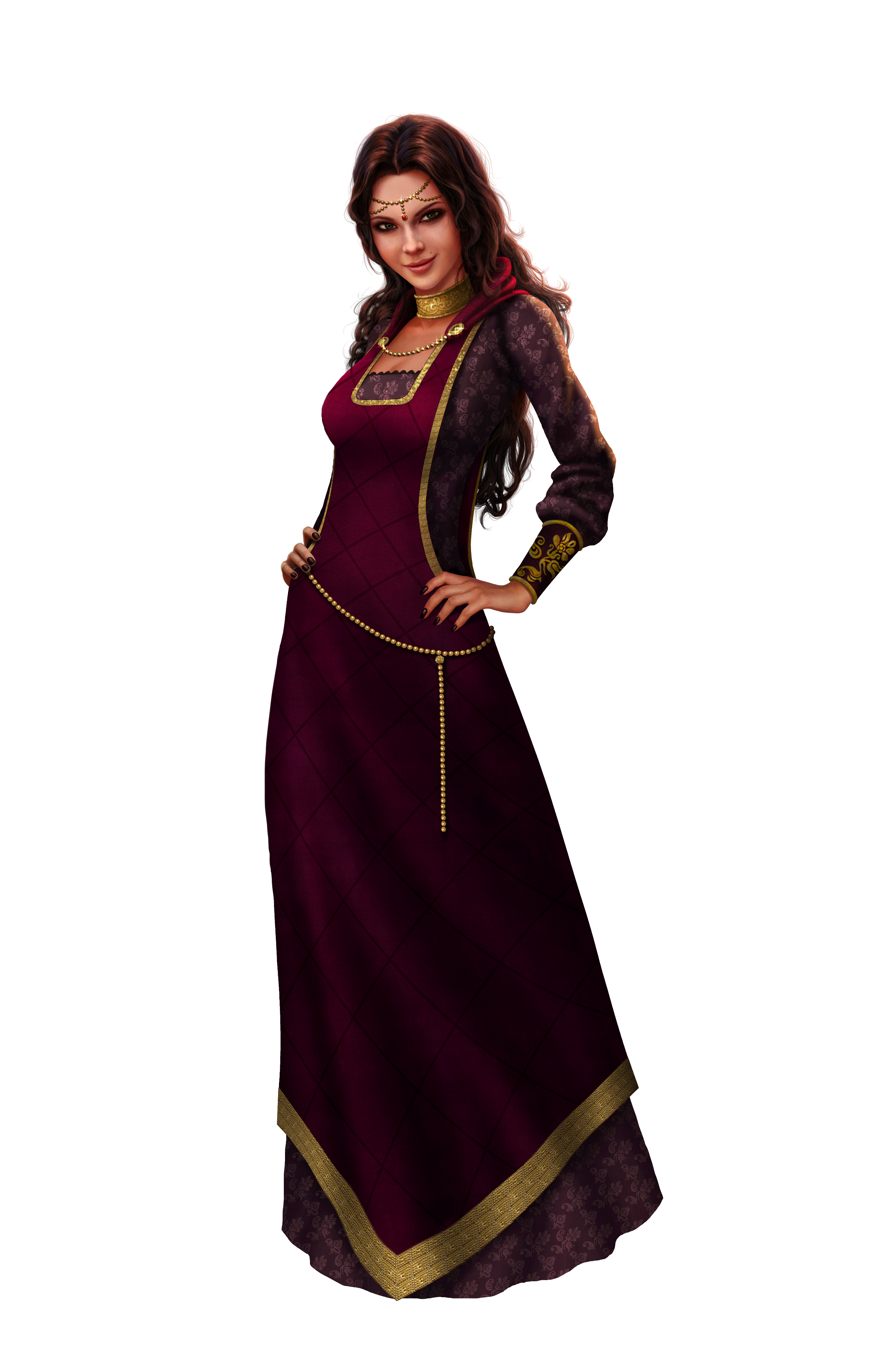 Sims And Velvet Medieval Shoulder Nobles Pirates PNG Image