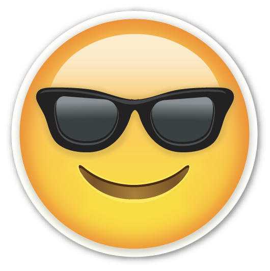 Smiling Face With Sunglasses Cool Emoji Png PNG Image
