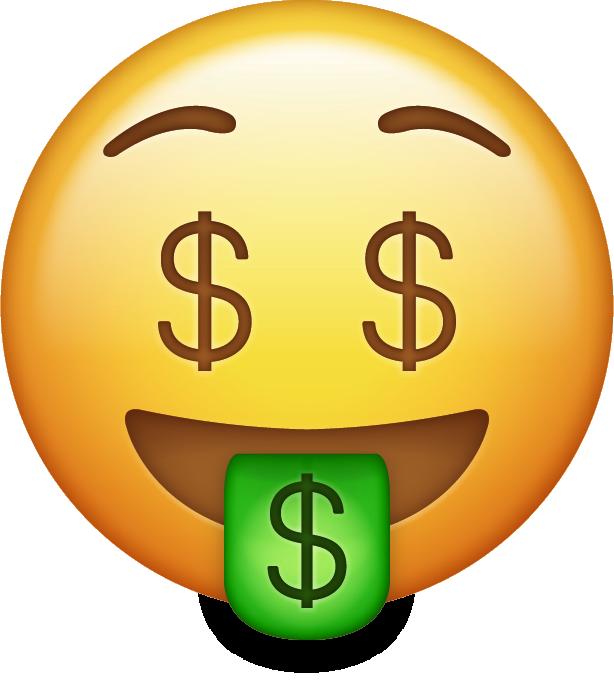 Download Emoticon On Money Keep Bag Carving Emoji HQ PNG ...