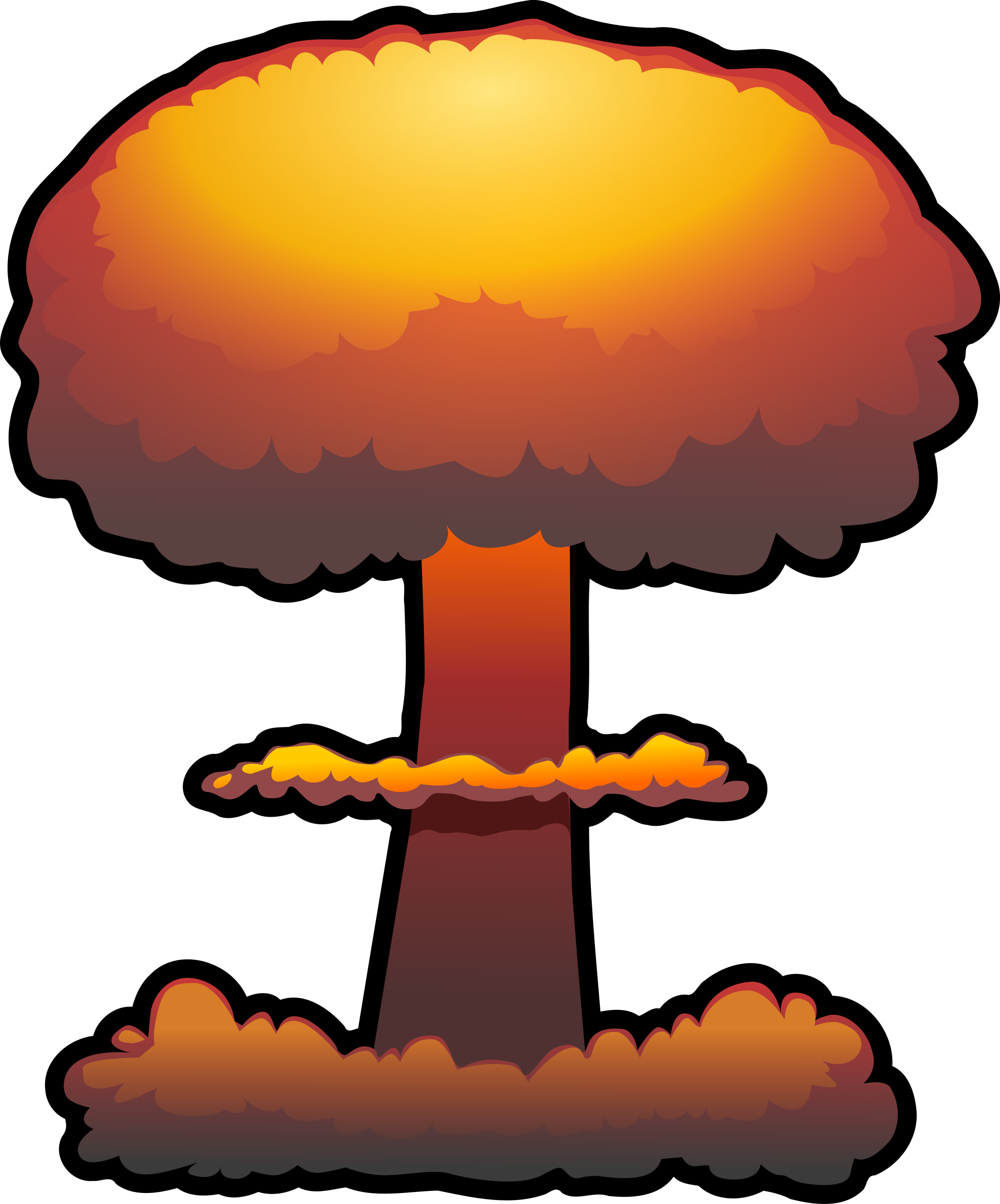Atomic Explosion Photo PNG Image