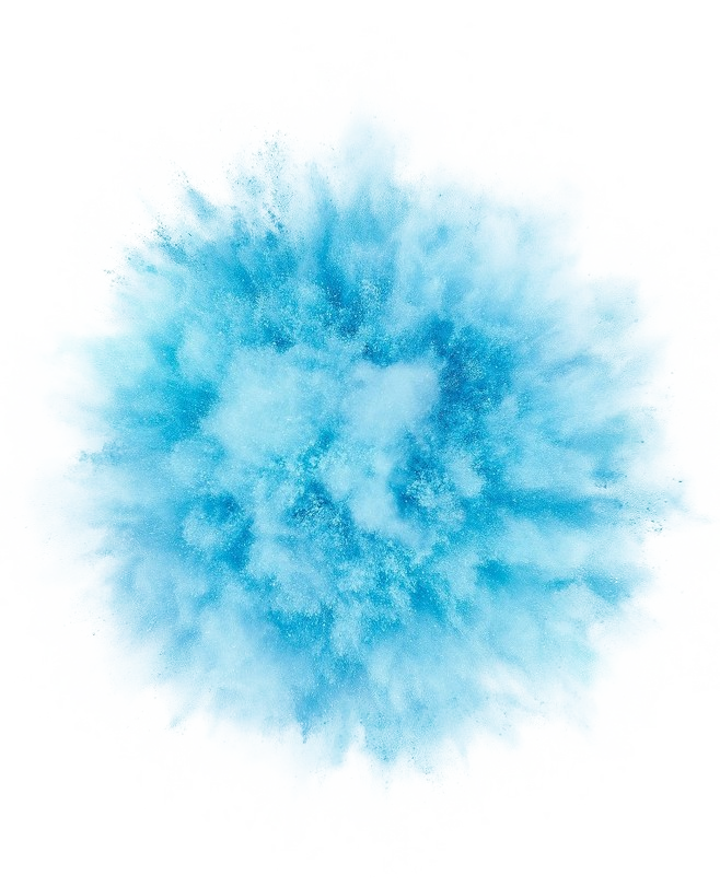 Blue Color Powder Light Free HQ Image PNG Image