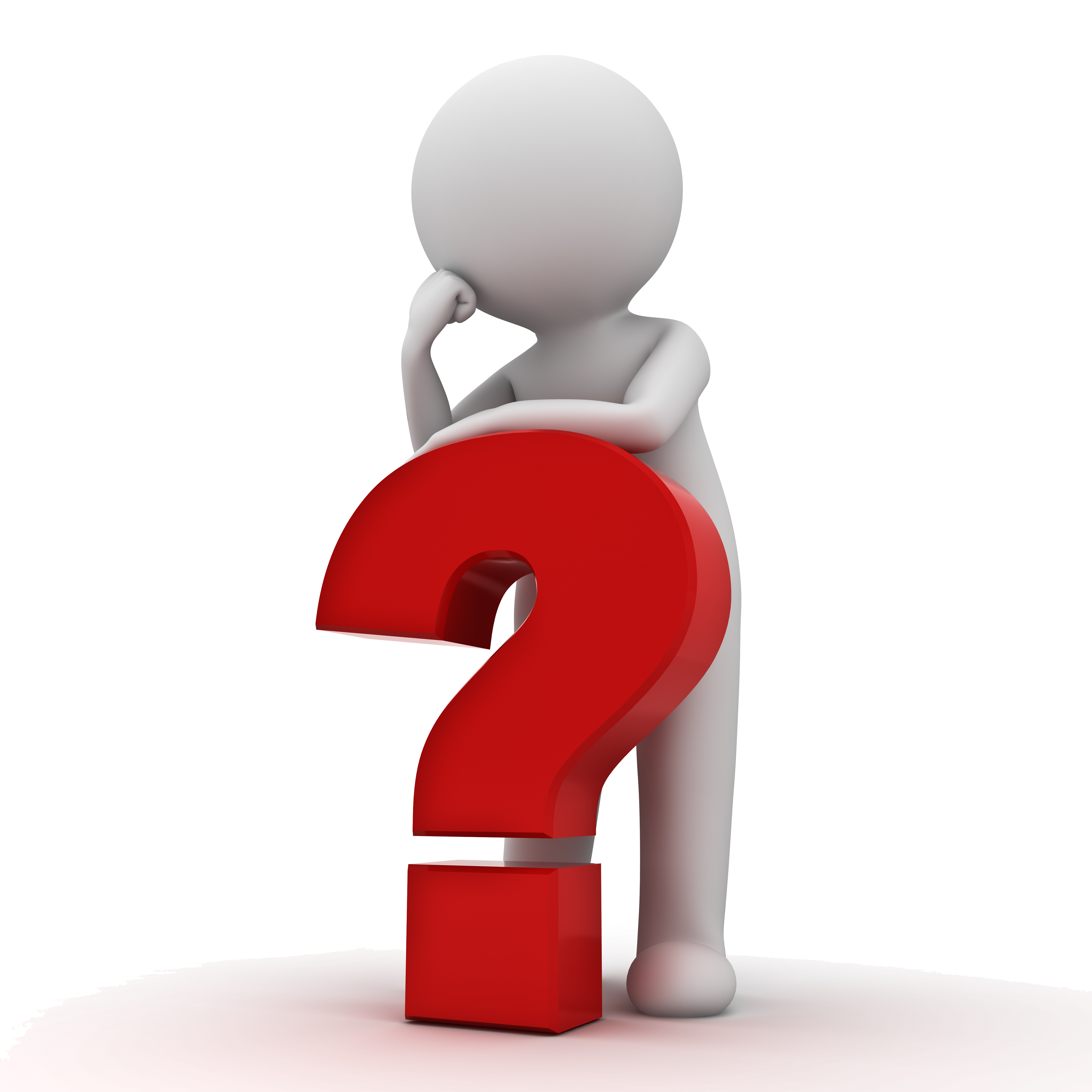 Thinking Photography Question Mark Man Stock PNG Image