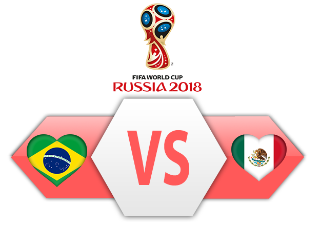 Fifa World Cup 2018 Brazil Vs Mexico PNG Image