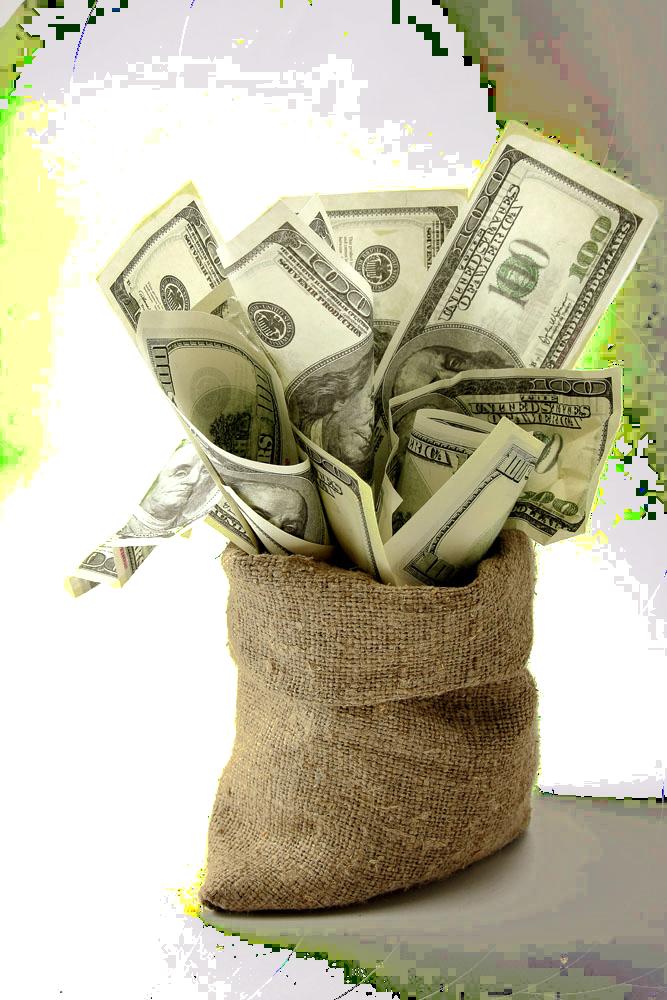 Download United Finance Money Dollar States Bag Of HQ PNG ...