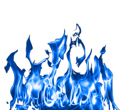 Blue Fire Clipart PNG Image