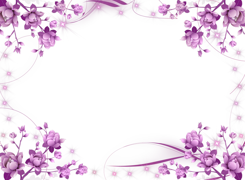 And Picture Flower Purple Frames Borders Border PNG Image