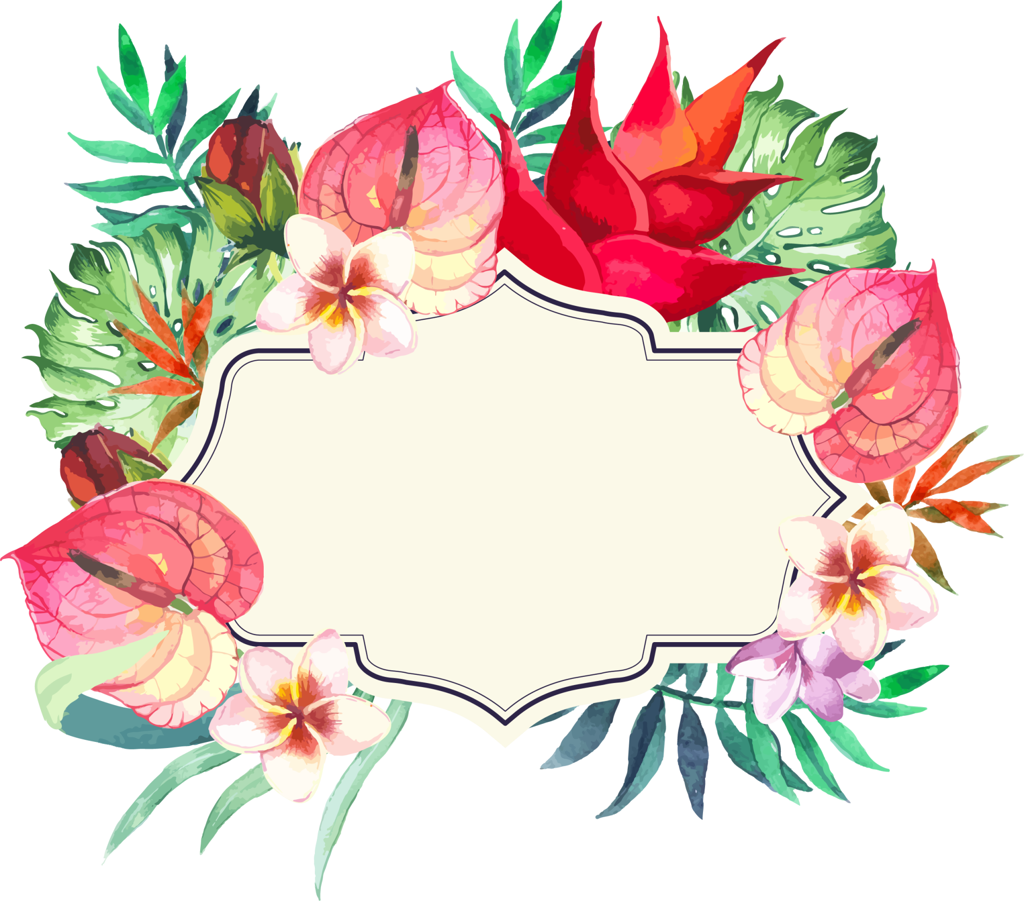 Frame Flower Colorful PNG Free Photo PNG Image