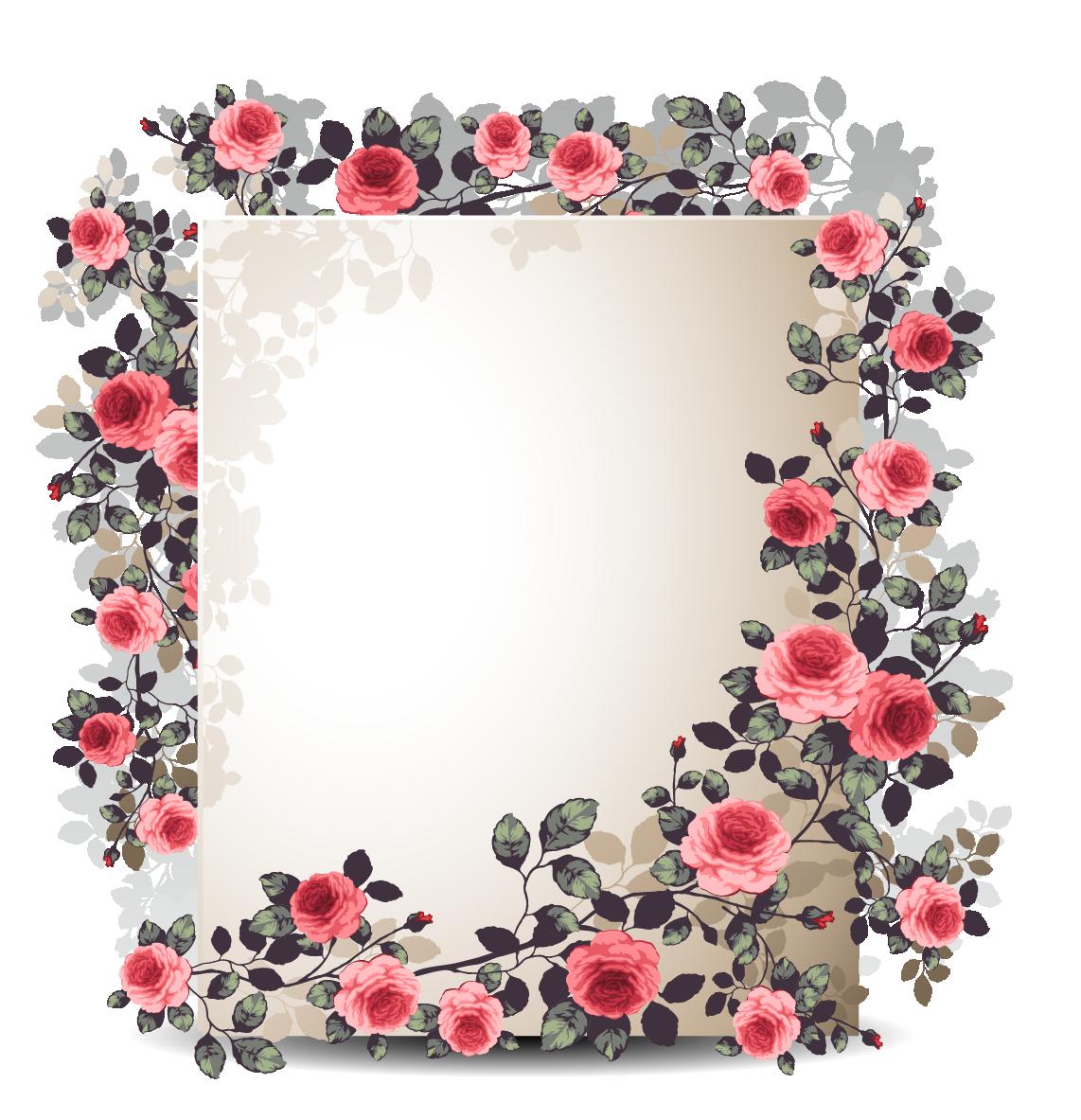Download Flower Border Free Frame HQ PNG Image | FreePNGImg