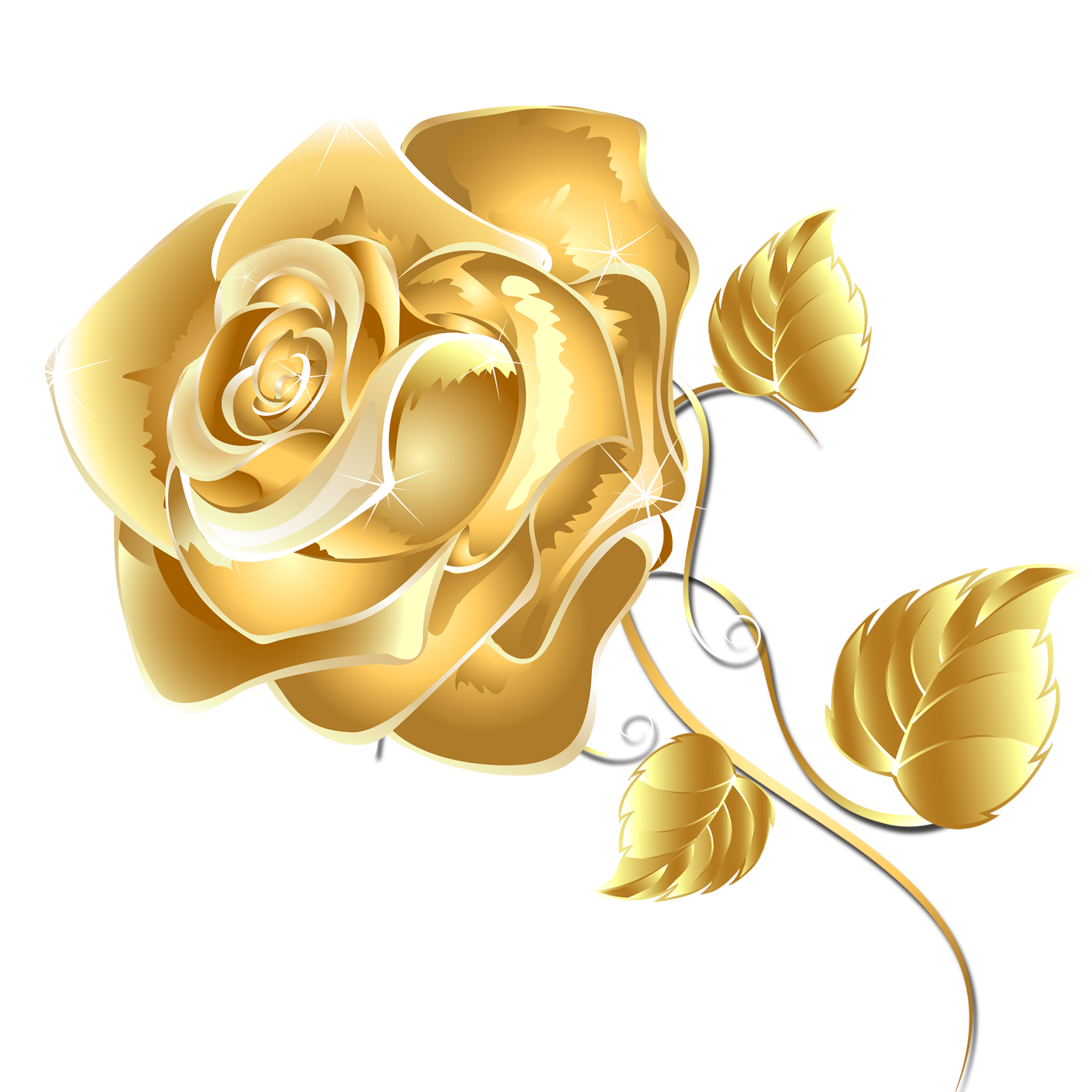 Download Flower Gold Package Rose Application Fashion ... (1417 x 1417 Pixel)