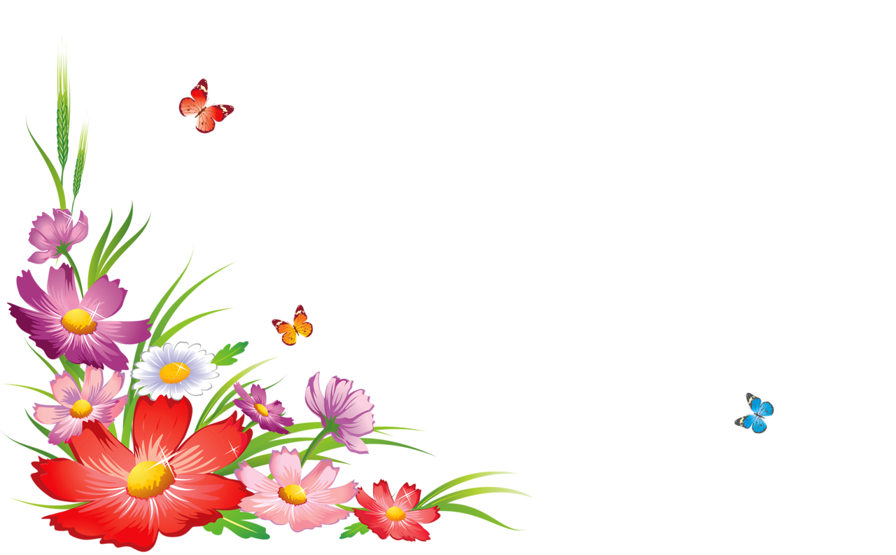 Frames Picture Flowers Corners PNG Download Free PNG Image