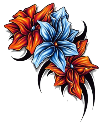 Flower Tattoo Png Image PNG Image