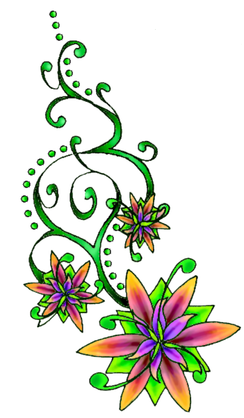 Flower Tattoo Free Download Png PNG Image