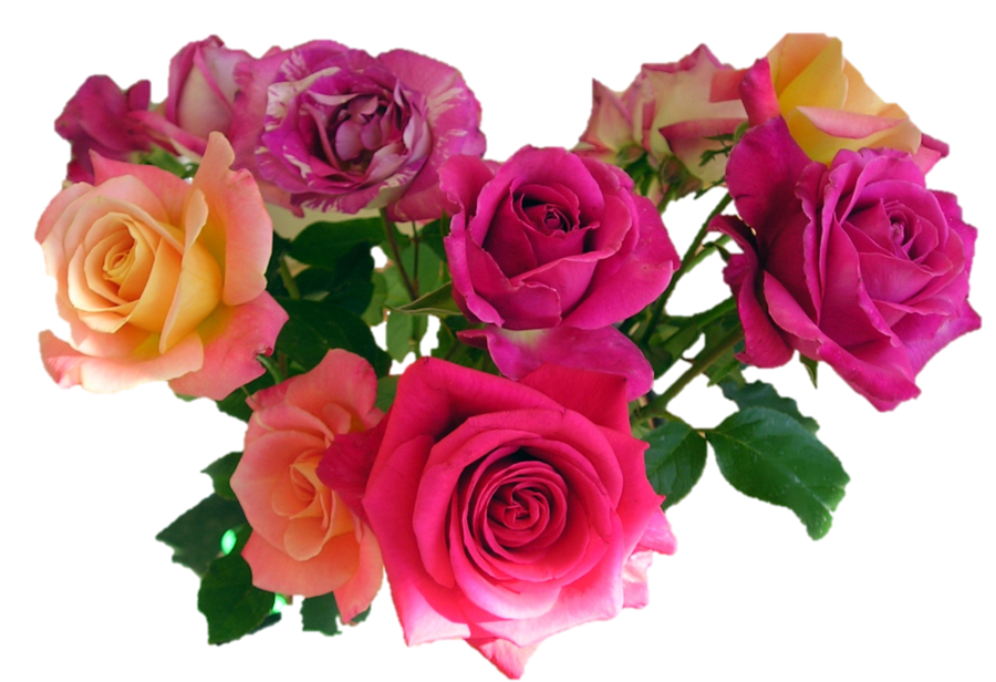 Download Pink Roses Flowers Bouquet Image HQ PNG Image ...