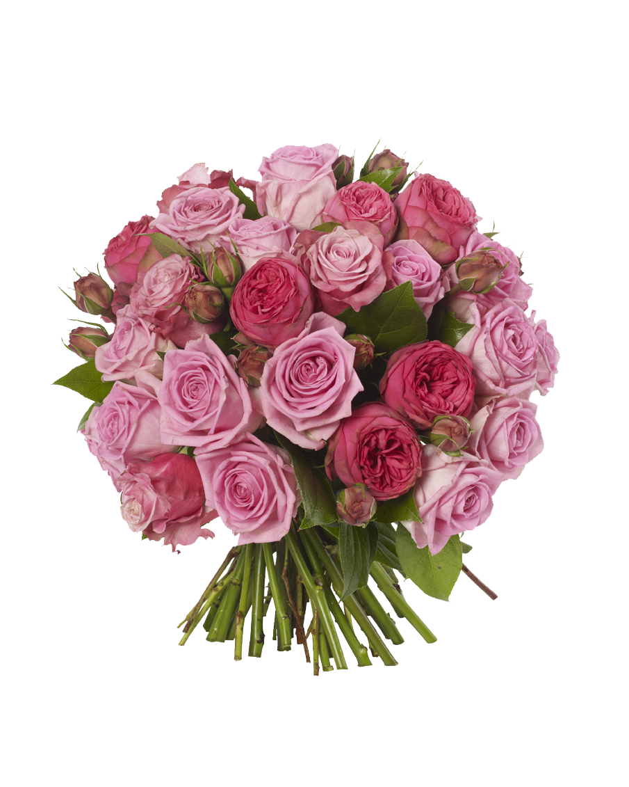 Download Pink Roses Flowers Bouquet Free Download HQ PNG ...