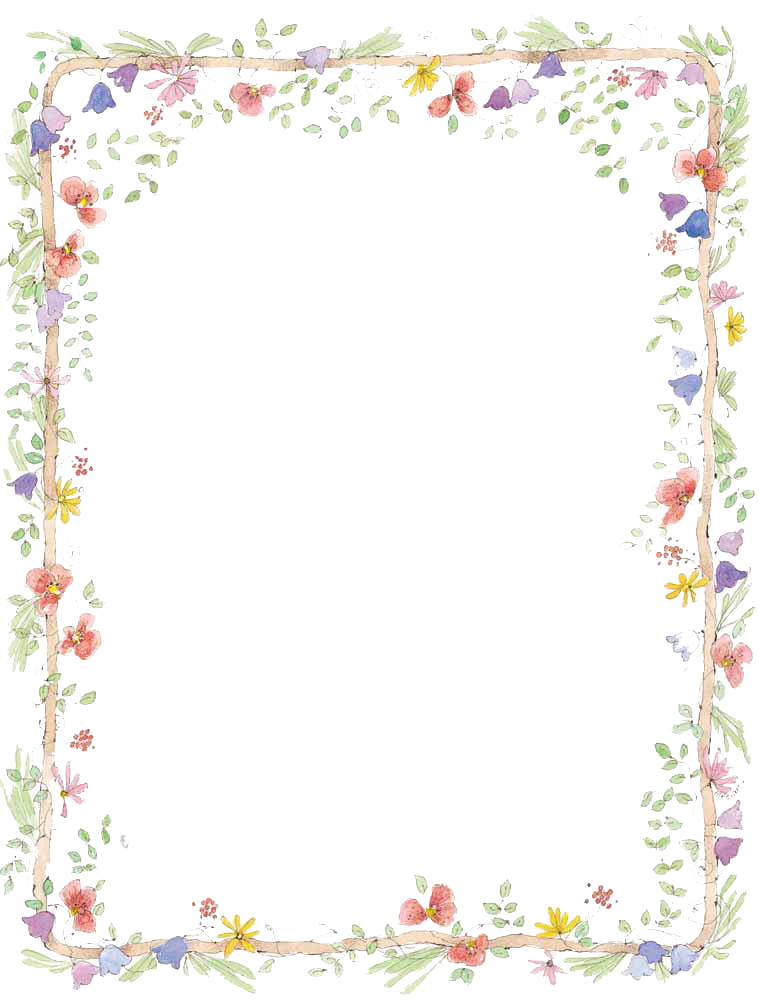 Flowers Borders Download Png PNG Image