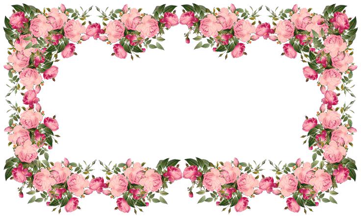 Download Flowers Borders Transparent HQ PNG Image   FreePNGImg