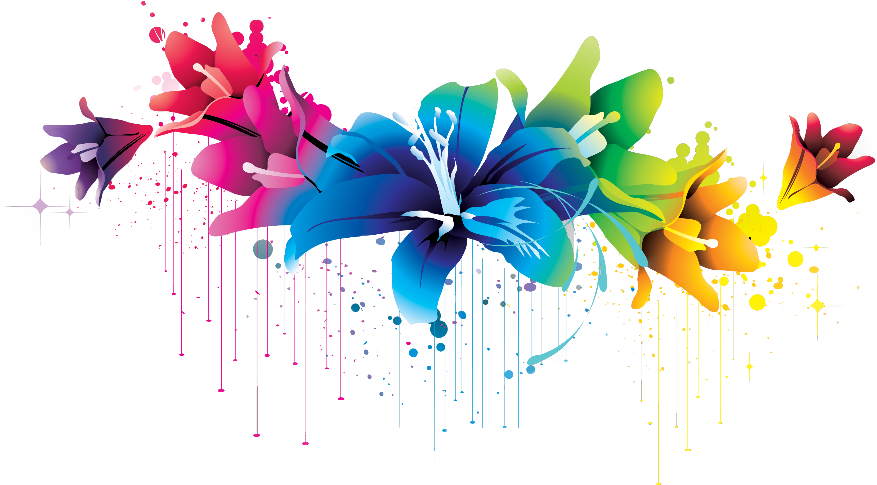 Flowers Vectors Picture PNG Image