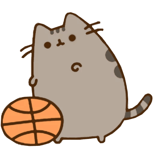 Food Basketball Pusheen Organism Cat Free Clipart HD PNG Image