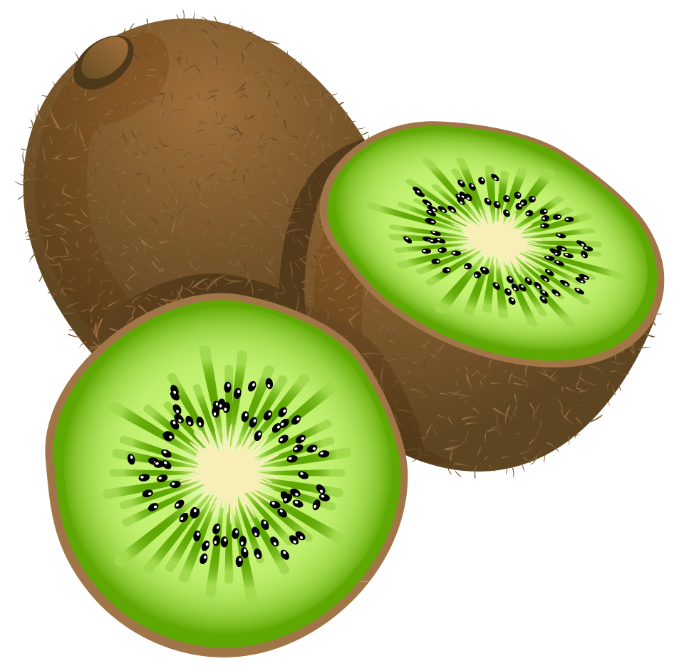Kiwi Painted Photography Frut Large Kiwifruit Stock PNG Image